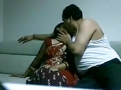 Busty nailed on the sofa in desi home made porn video